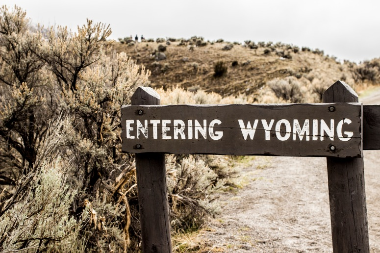 Entering Wyoming