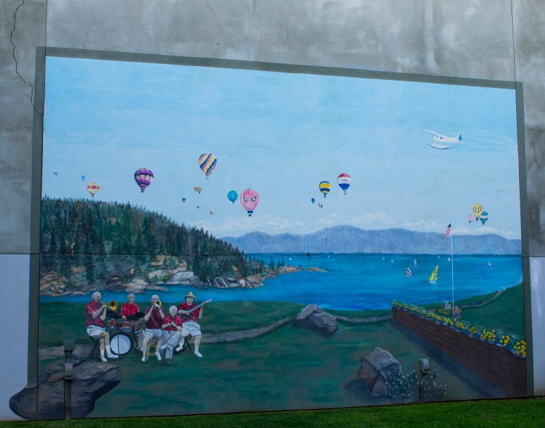 A beautiful mural found in the town.