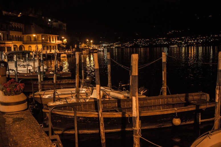 Lake Iseo - Boats in the island harbour