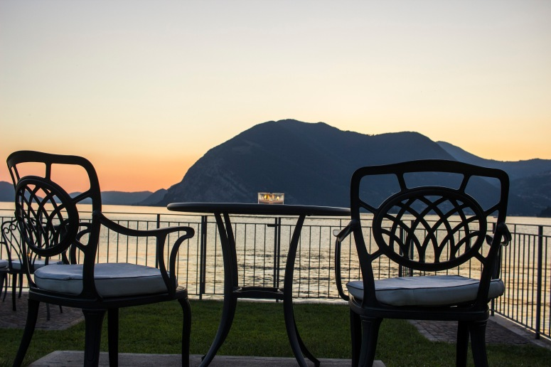 Lake Iseo - Chairs by the water