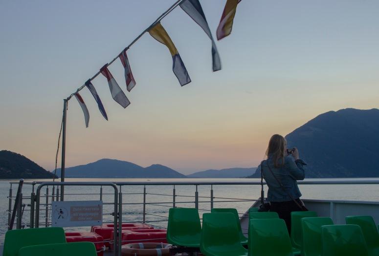 Lake Iseo - Lulu on ferry